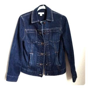 Coldwater Creek Dark Blue Button Up Denim Jacket 4